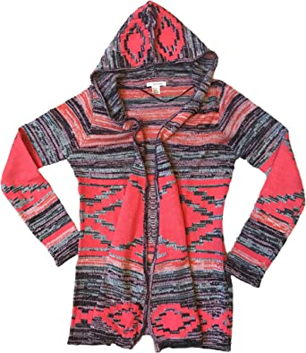 Self Esteem Women's Open Front Hooded Knit Cardigan