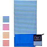 Microfiber Beach Towel Oversized - XL 70 x 35 Inch - Quick Dry, Sand Free, Extra Large, Lightweight with Easy Zipper Bag - Perfect for Travel, Yoga, Gym, Beach Blanket & Backpacking