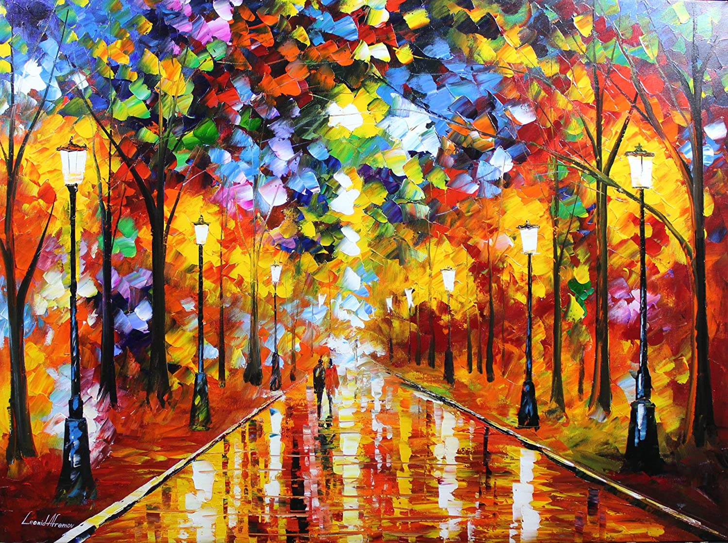 Amazon.com: Farewell to Anger is a ONE-OF-A-KIND, Original Oil Painting on  Canvas: Leonid Afremov: Home & Kitchen
