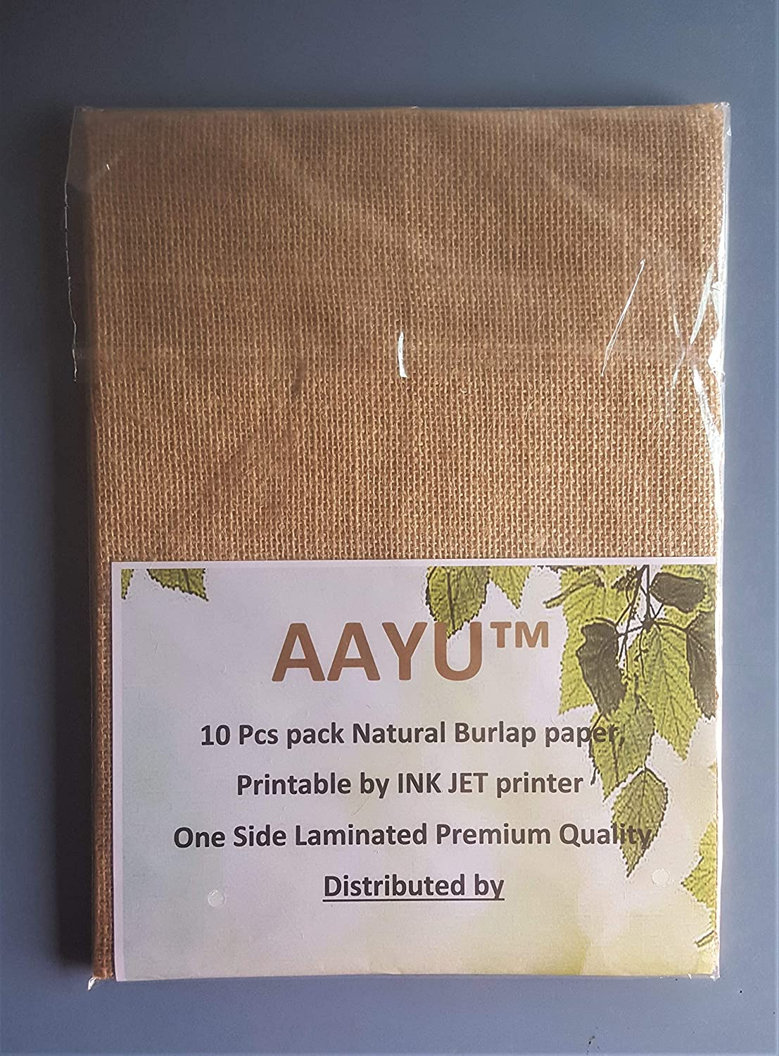 picture regarding Printable Burlap Paper identified as AAYU The vast majority Printable Jute Burlap Paper A4 Laminated Undeniable Jute-Paper Above 8.5 x 11.5 Inches 10 Piece Pack + 1 A lot more Print All the things with Ink Jet