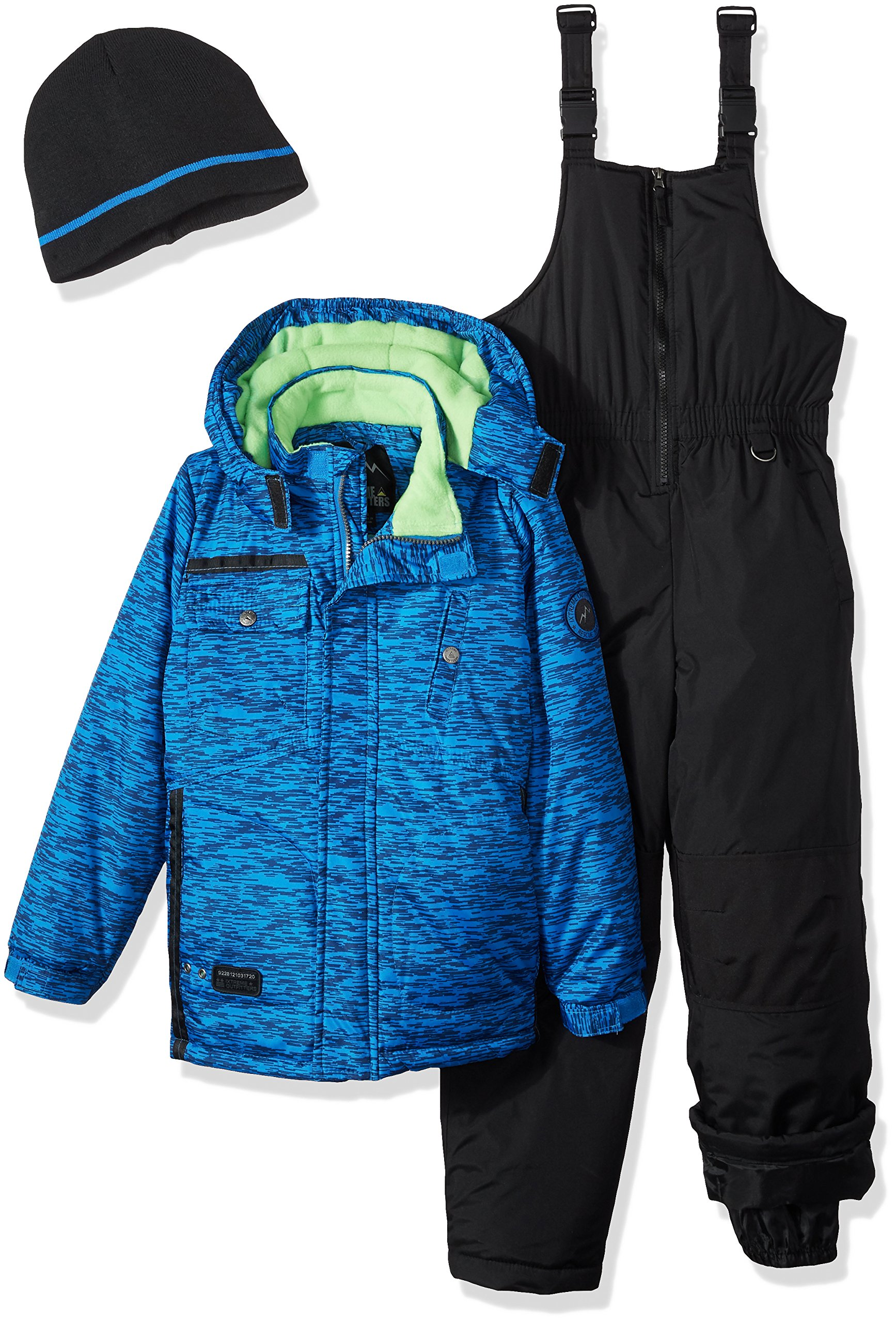 iXtreme Boys' Big Tonal Print Snowsuit W/Gaiter, Blue, 14/16