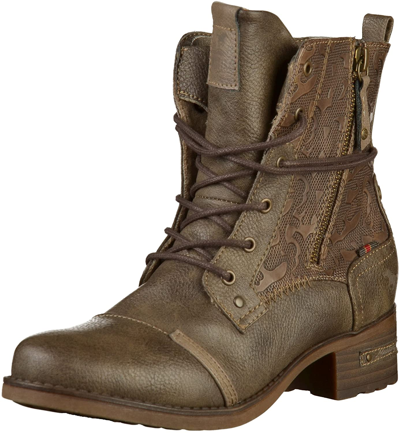Mustang Schnür-Stiefelette, Botines Botines Mustang Femme 19213 Marron 4bfbe9b - reprogrammed.space