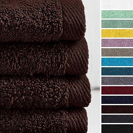 Lumaland Premium Set 4 Toalla de Manos 50 x 100 cm 100% Algodón 500 g