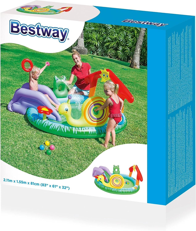 Bestway 8321476 8321476-Piscina Infantil (tobogán, 211 x 155 cm ...
