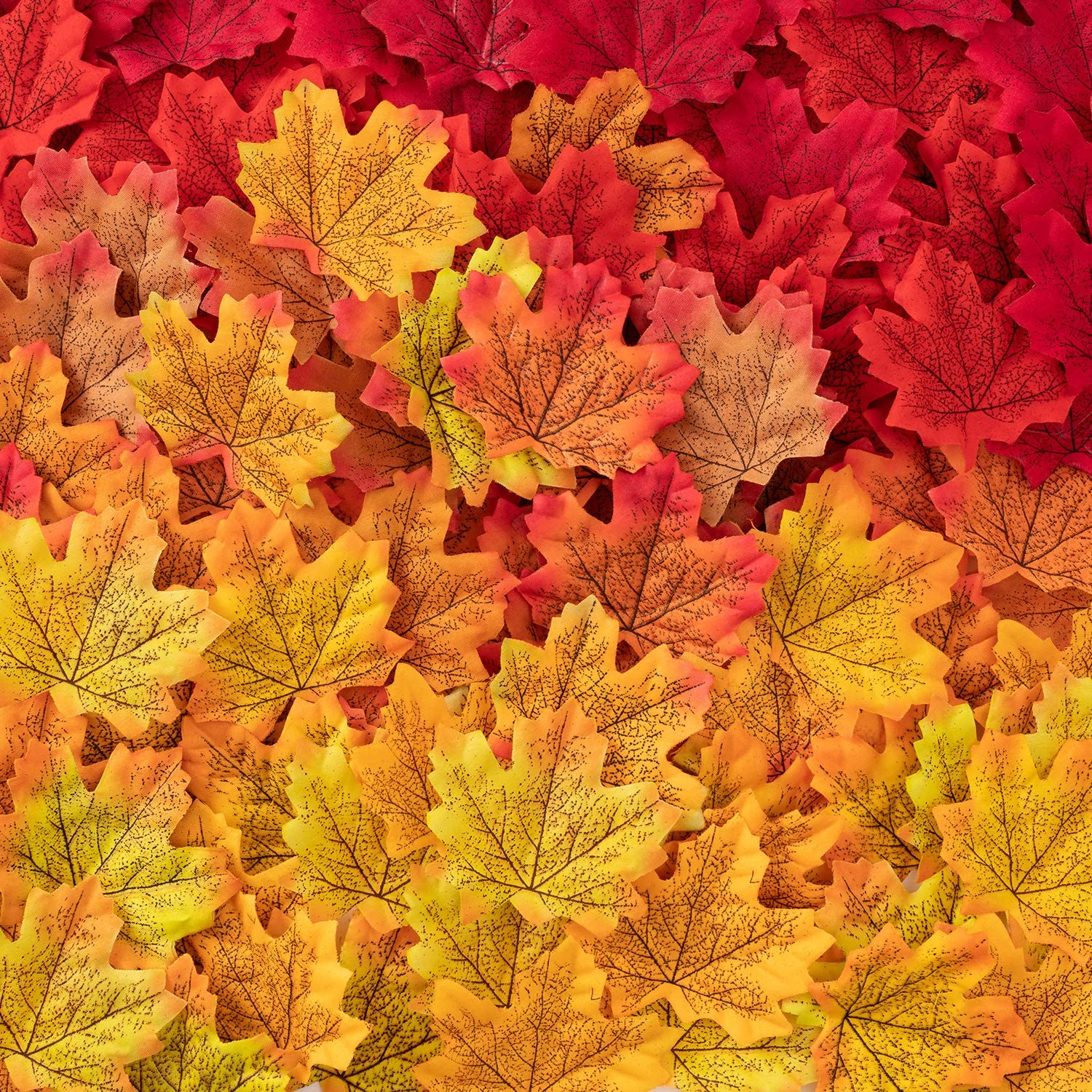 MoonLa 1000Pcs Fall Artificial Maple Leaves Thanksgiving Autumn Leaf for Wedding Party Events Table Decor Halloween Decorations (10 Colors)