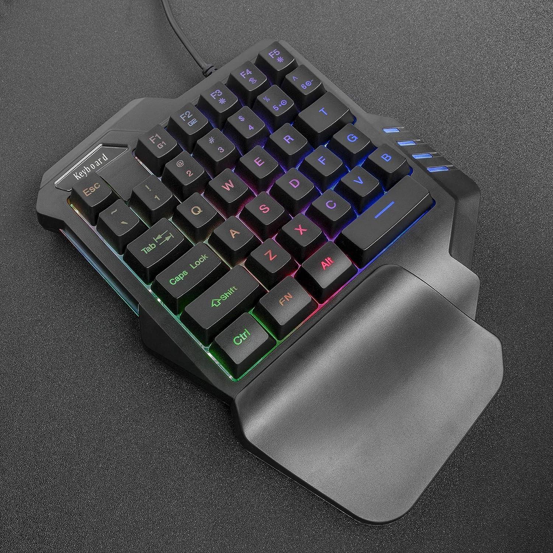 ゲーミングキーボード自宅ゲーム/仕事PC用/イラスト左手デバイス用片手キーボード有線キーボードWindows&Macを対応1年間のメーカ保証Cozydoozy30