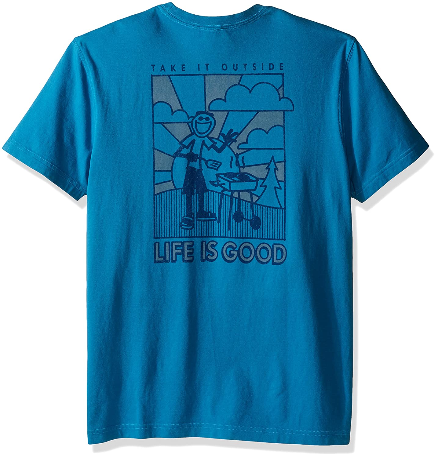 Life is Good Mens Pocket Take It Outside Crusher Tee