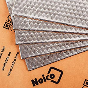 Noico 80 mil 5 sqft Car Sound Deadening Mat, Butyl Automotive Sound Deadener, Audio Noise Insulation and Dampening