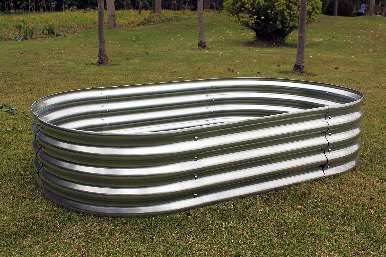 """Treedeng Raised Garden Bed for Vegetable for Flower for Fruit Galvanized Metal Steel 59""""x34""""x12"""""""
