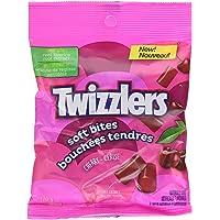 TWIZZLERS Licorice Candy, Cherry Soft Bites, Stocking Stuffer, 170 Gram