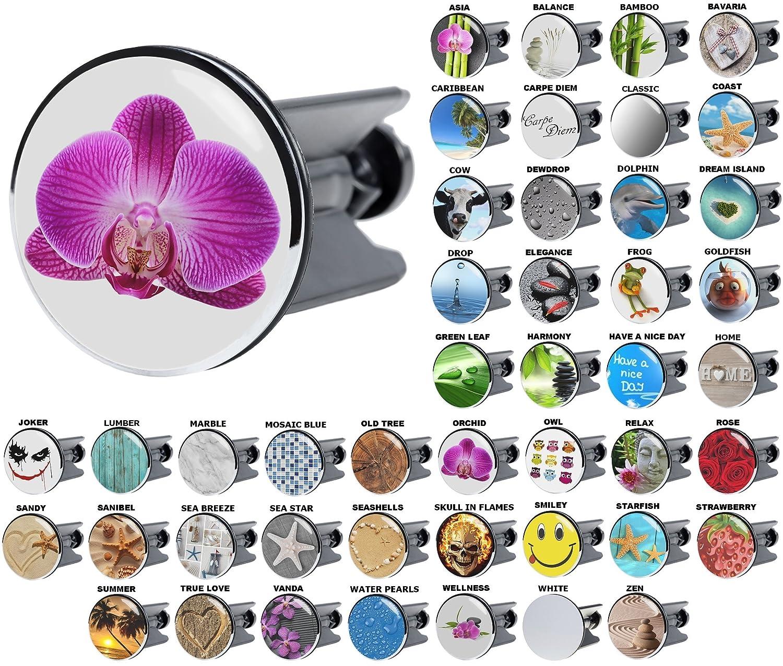 Wash Basin Plug | Wide choice of beautiful basin plugs | Easy to insert into the wash basin (Rose) SANILO