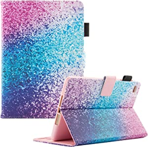 "Dteck Flip Case for iPad 9.7"" 6th/5th Generation - Pretty Smart Stand Case PU Leather Protective Pocket Cover with Auto Sleep Wake for Apple iPad 9.7 Inch 2017 2018/ iPad Air/iPad Air 2-Rainbow Sand"