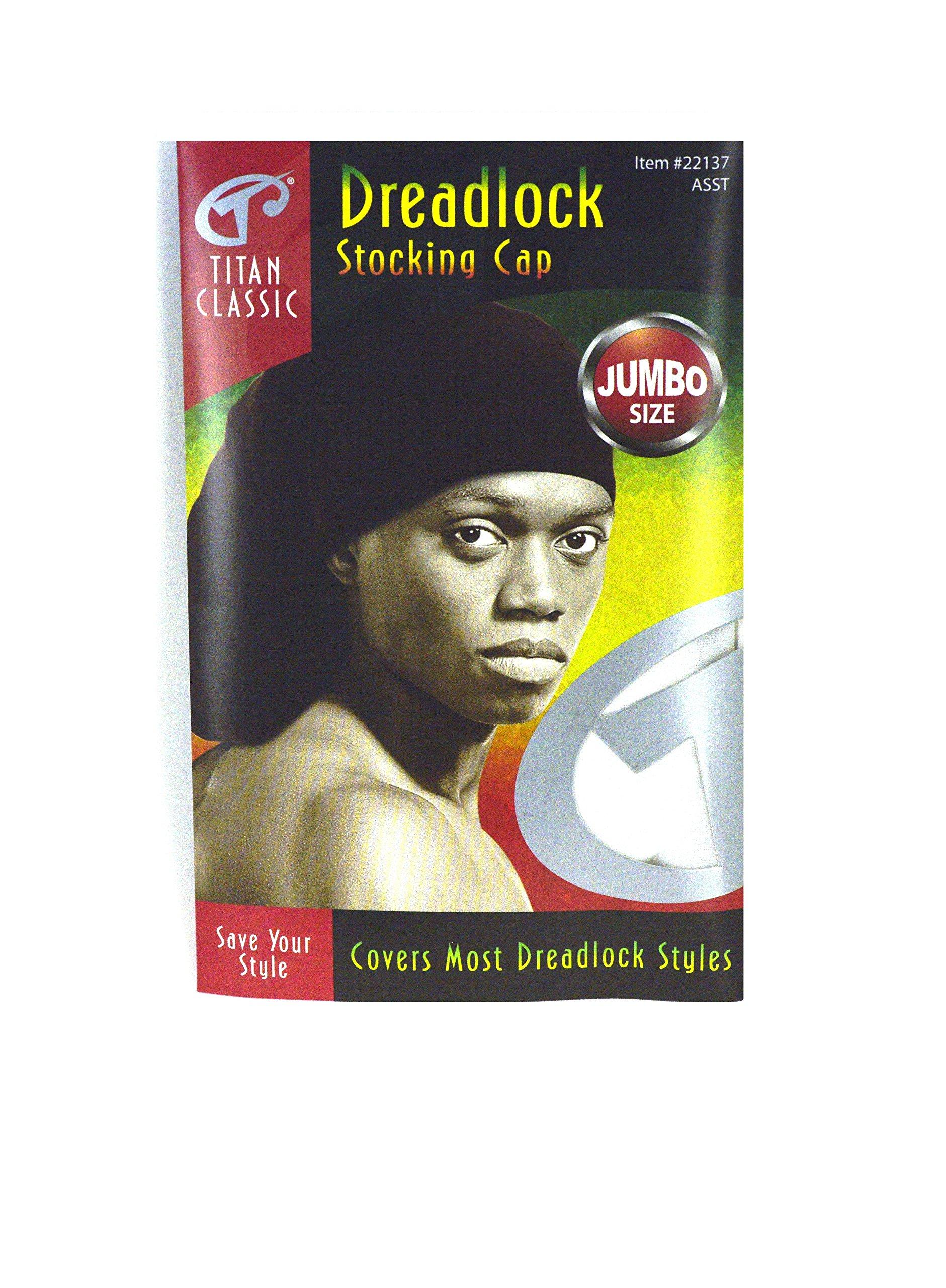 ab7c5dfc766 Amazon.com   Titan Classic Dreadlock Stocking Cap Jumbo Size Kufi ...