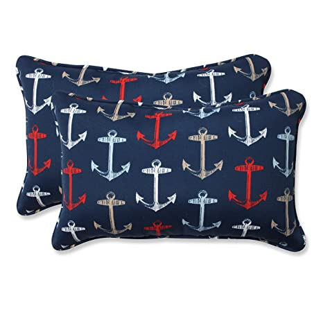 Superior Pillow Perfect Outdoor/Indoor Anchor Allover Arbor Rectangular Throw Pillow  (Set Of 2) Design Ideas