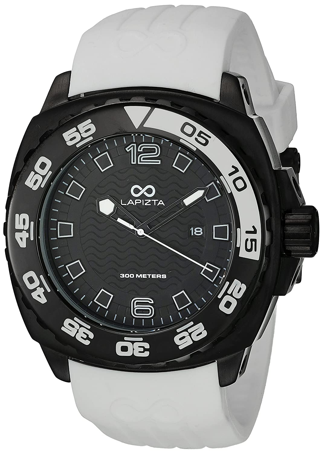 LAPIZTA Audax 300M Diver's Watch - 48mm White and Black L22.1401