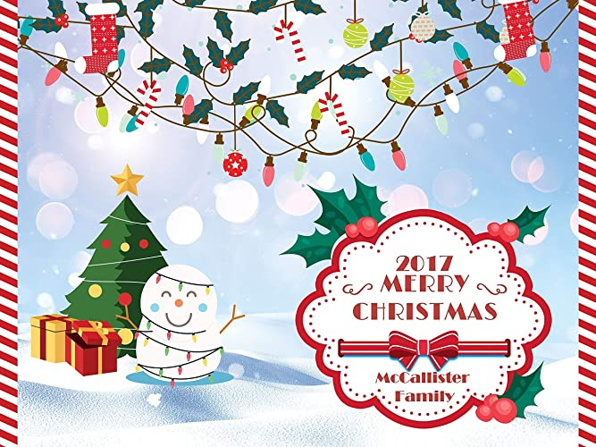 Christmas Party 2019 Clipart.Amazon Com Large Custom Frosty Snowman Christmas Banner