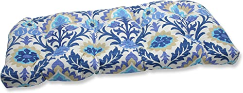Pillow Perfect Outdoor/Indoor Santa Maria Azure Tufted Loveseat Cushion