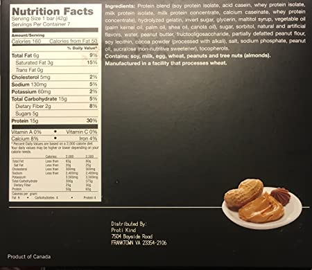 Proti Kind Peanut Butter Cup Protein Bars THREE-PACK 21 Bars, 15g Protein Per Serving