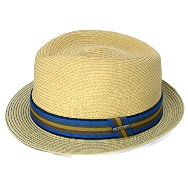 9a3c546ee26b85 Stetson Men's Toyo Straw Trilby Blue: Amazon.co.uk: Clothing