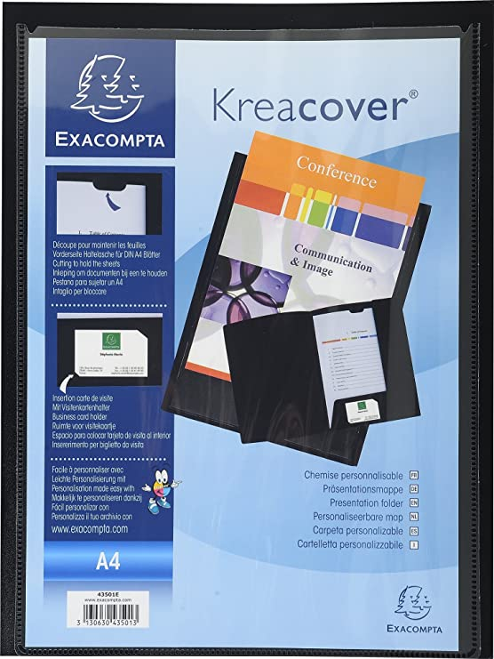 Exacompta 43500E Prasentationsmappen PP Krea Cover DIN A4 10 Stuck Zufallige Farbe Amazonde Burobedarf Schreibwaren