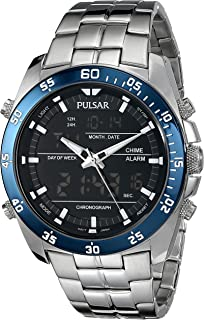 Pulsar Mens PW6013 Analog Display Japanese Quartz Silver Watch