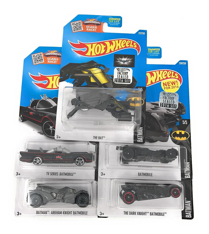 Amazoncom 2016 Hot Wheels Batman 5 Car Complete Set Batmobile (Batman