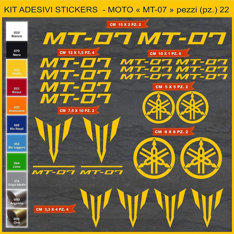 049 BLU ROYAL Kit Adesivi Stickers moto MT-07 MT07-22 Pezzi Scegli Colore cod.1075