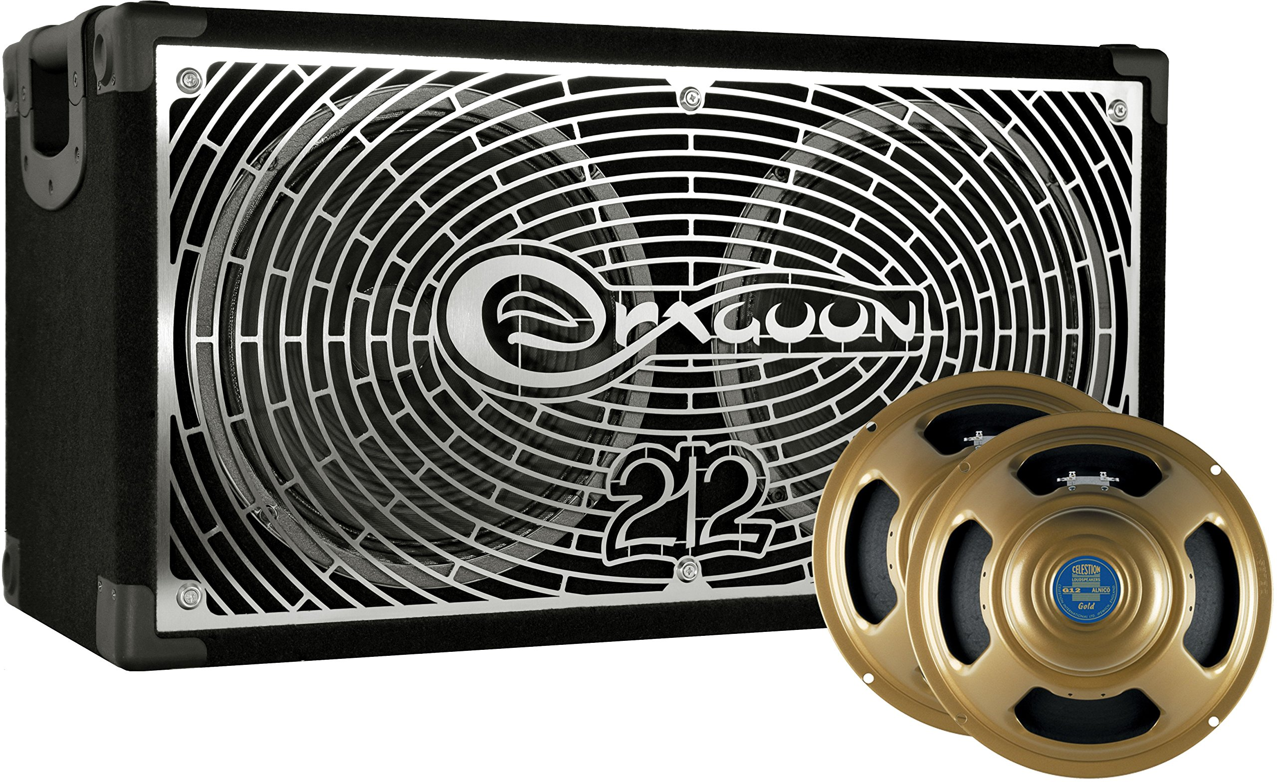 DRAGOON250C8G Handcrafted High Performance 2x12 Inches Guitar Speaker Cabinet with Celestion G12 Alnico Gold