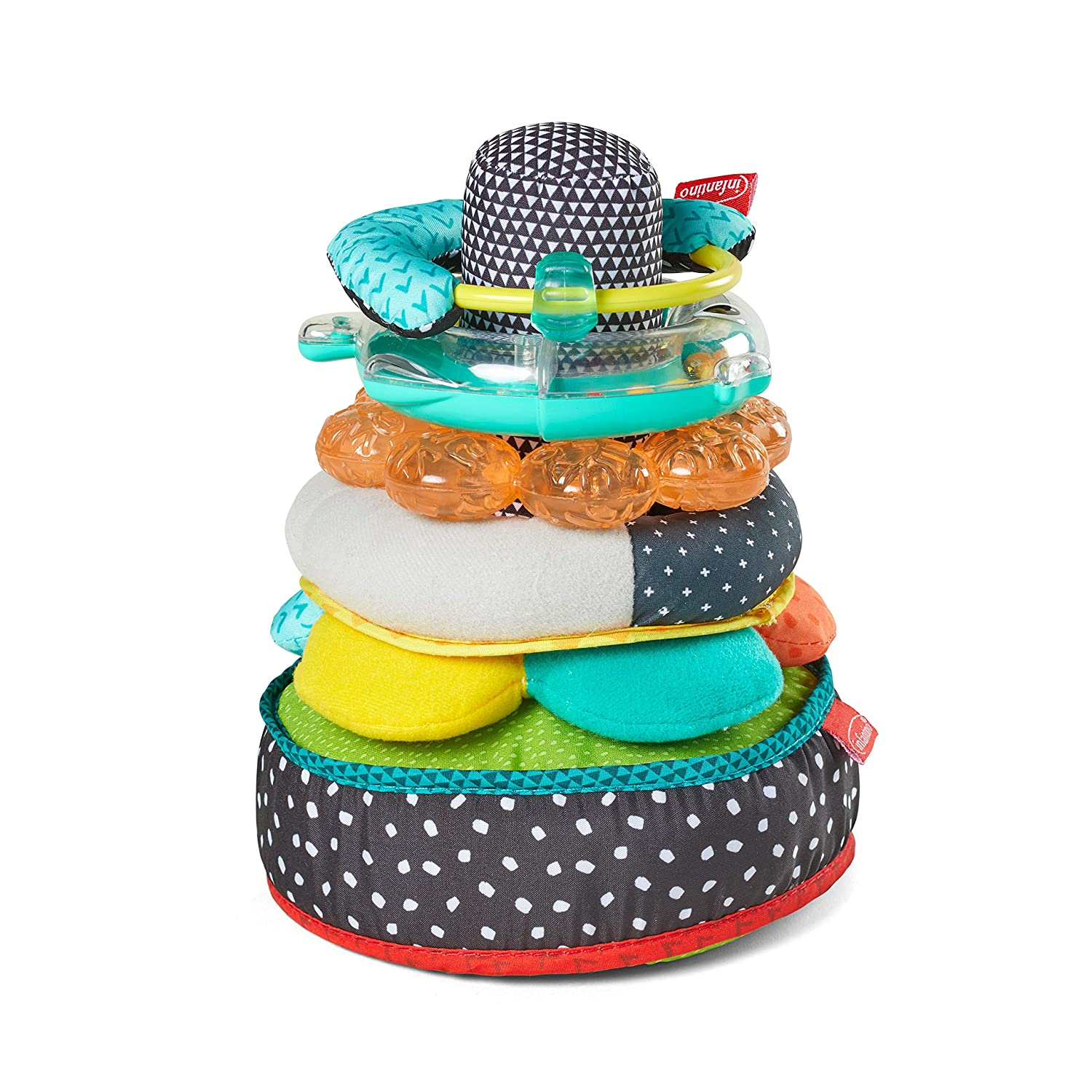 Infantino Infantino Textures & Sounds Activity Stacker, Multi