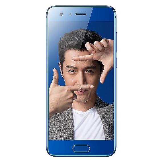 HUAWEI Honor 9 STF-AL10 5 15 inch Kirin 960 Dual 20 MP + 12 MP (6GB+64GB)  Smartphone (Charm Sea Blue) - International Version, No Warranty in the US,
