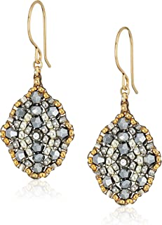 product image for Miguel Ases Small Pyrite Antique Style Drop Earrings