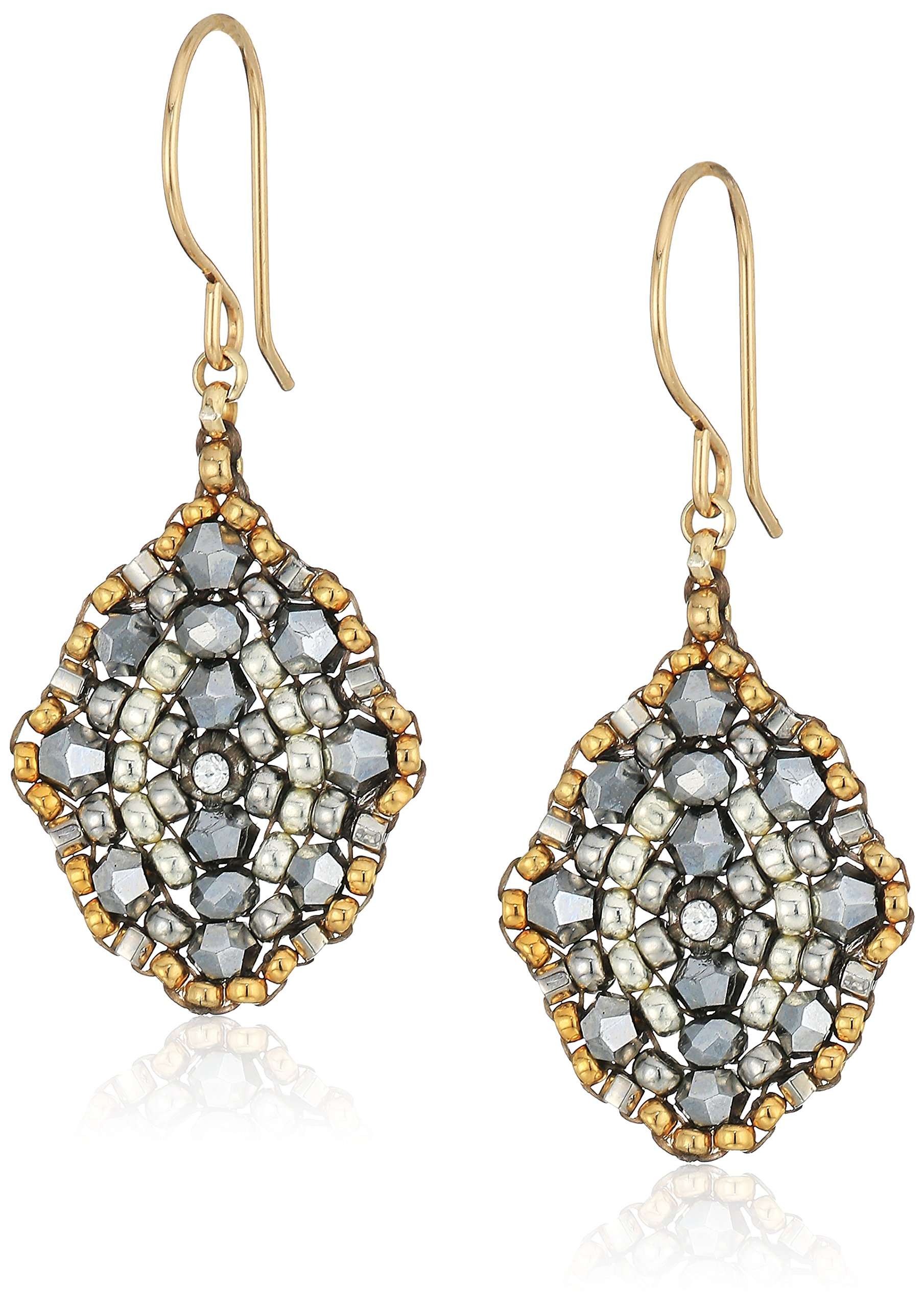 Miguel Ases Small Pyrite Antique Style Drop Earrings