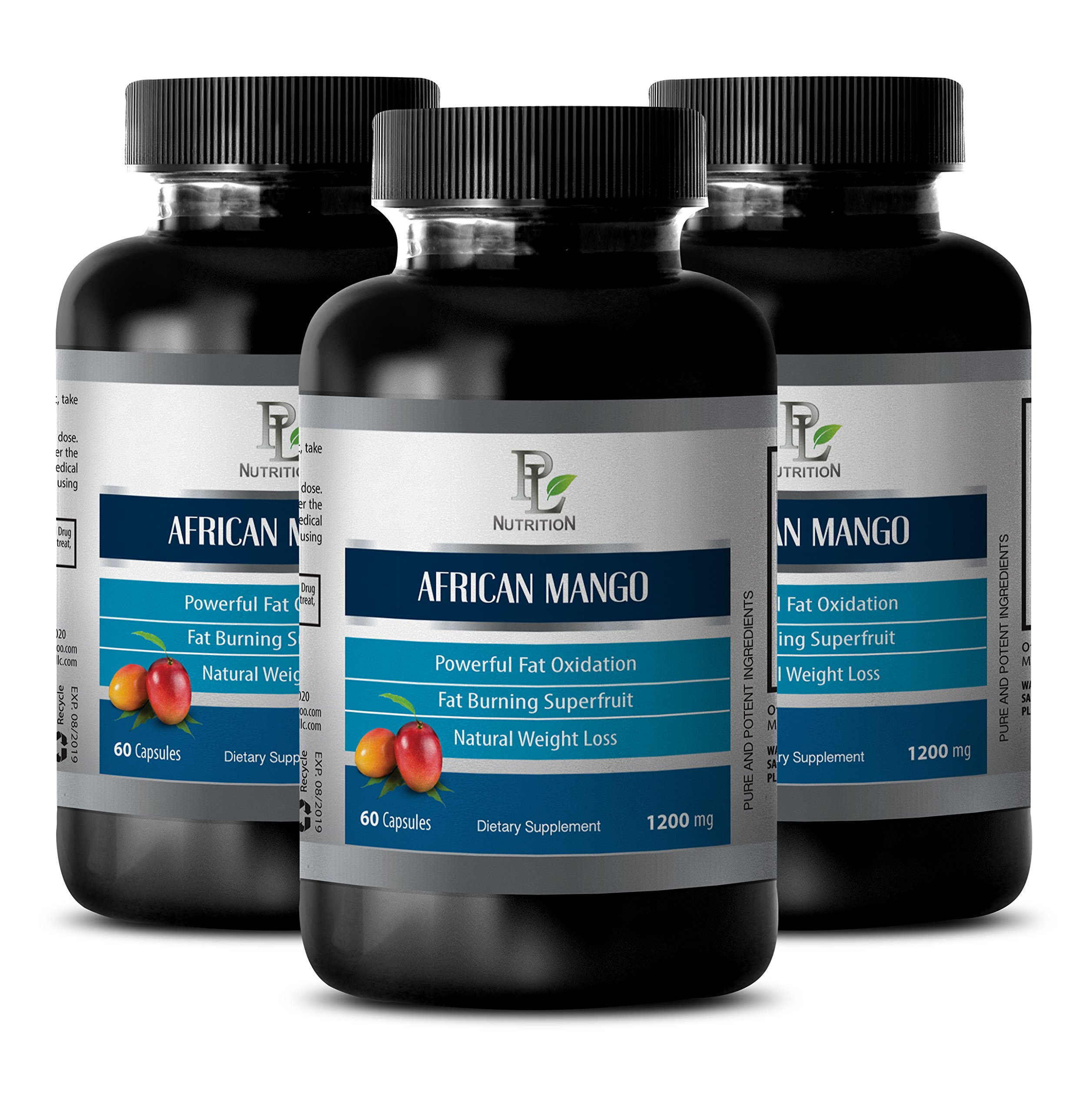 African mango diet - AFRICAN MANGO EXTRACT - Constipation relief - 3 Bottles 180 capsules by PL NUTRITION