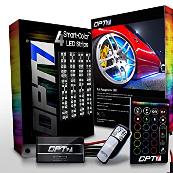 Amazoncom OPT Into Aura Wheel Well LED Kit Pc Complete - Opt7 led wiring diagram