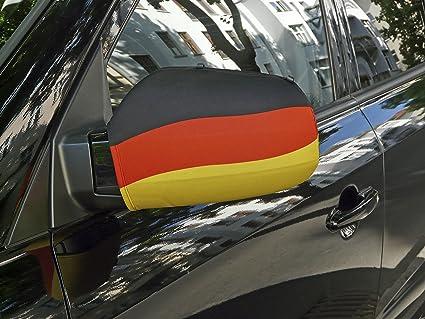 2x Spiegelfahne Deutschland Fahne Flagge Autospiegel Set universal