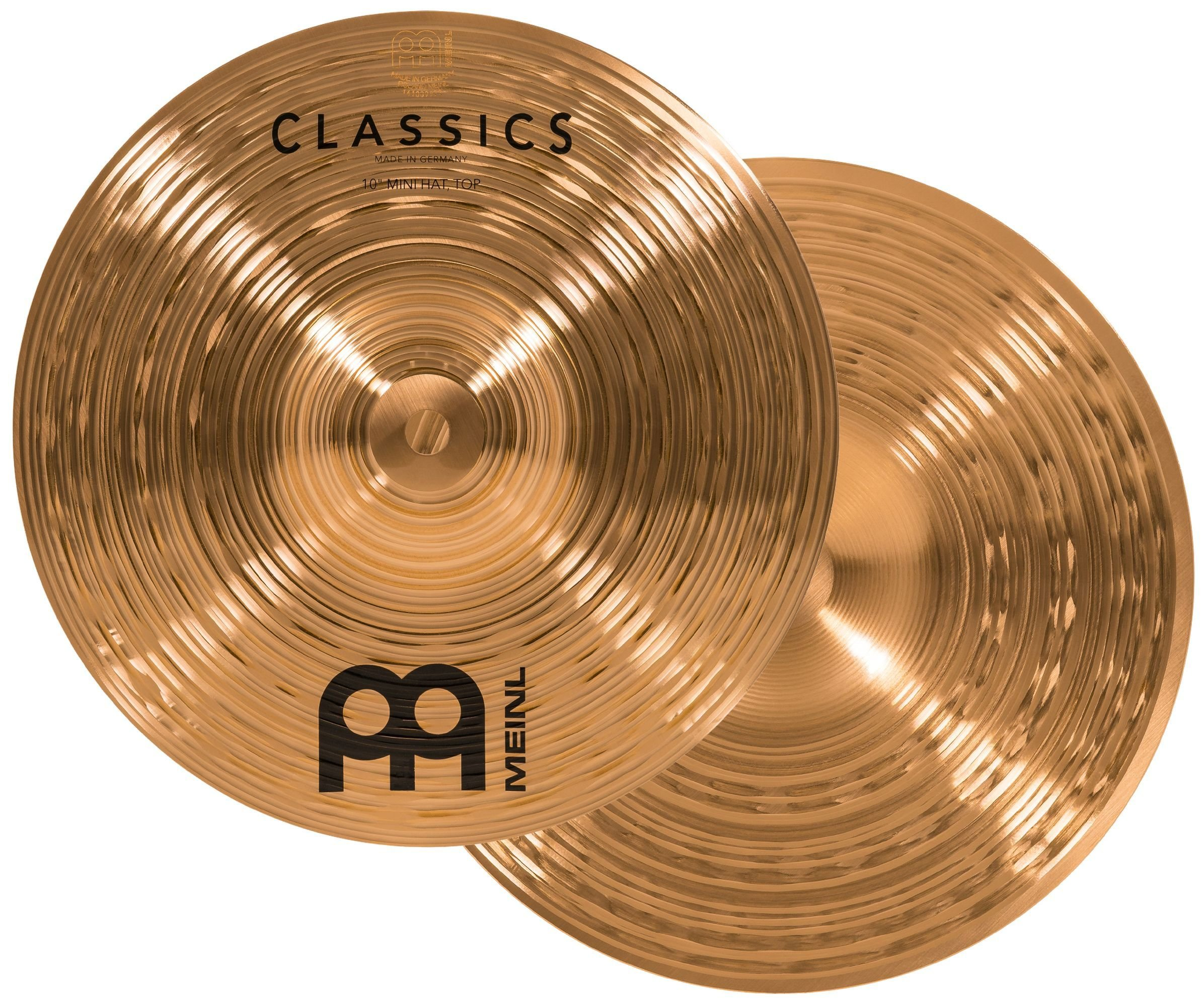 Meinl 10'' Mini Hihat (Hi Hat) Cymbal Pair - Classics Traditional - Made in Germany, 2-YEAR WARRANTY (C10MH) by Meinl Cymbals