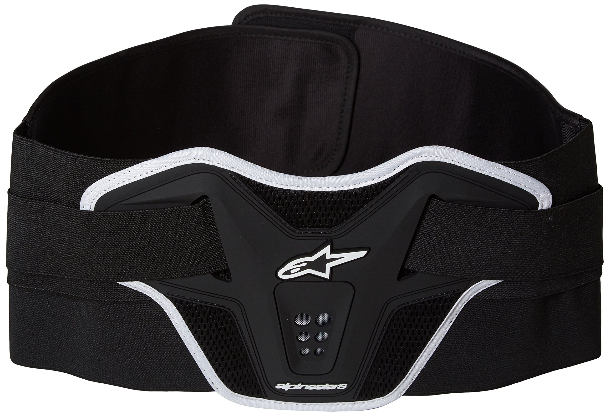 Alpinestars 6504612-12-OS Unisex-Adult Saturn Kidney Belt (Black/White, ) by Alpinestars