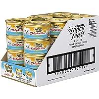 Fancy Feast Delights with Cheddar Tuna Wet Cat Food, Adult, 24x85g