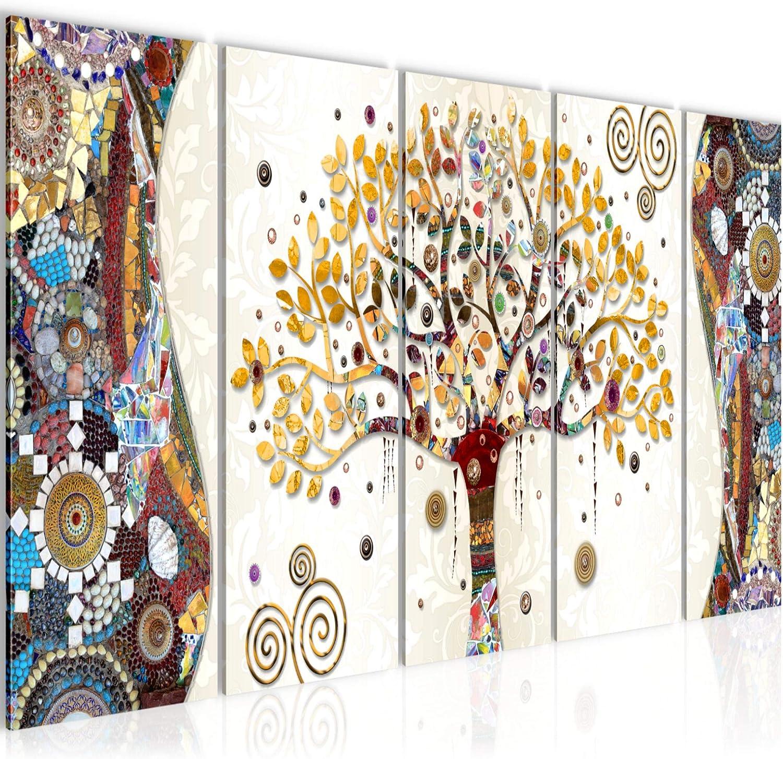 Quadro Gustav Klimt Albero Della Vita Stampa D'Arte Tela Non Tessuta  Decorazione Murale Soggiorno Camera Da Letto 004656a: Amazon.it: Casa e  cucina