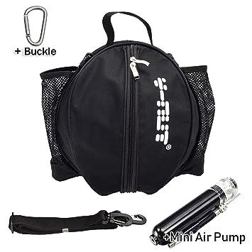 Y-Nut Bolsa de Baloncesto con Bomba de Aire Manual de tamaño de Bolsillo, Bolsa de Hombro de Baloncesto para Deportes al Aire Libre, Ideal para Llevar ...