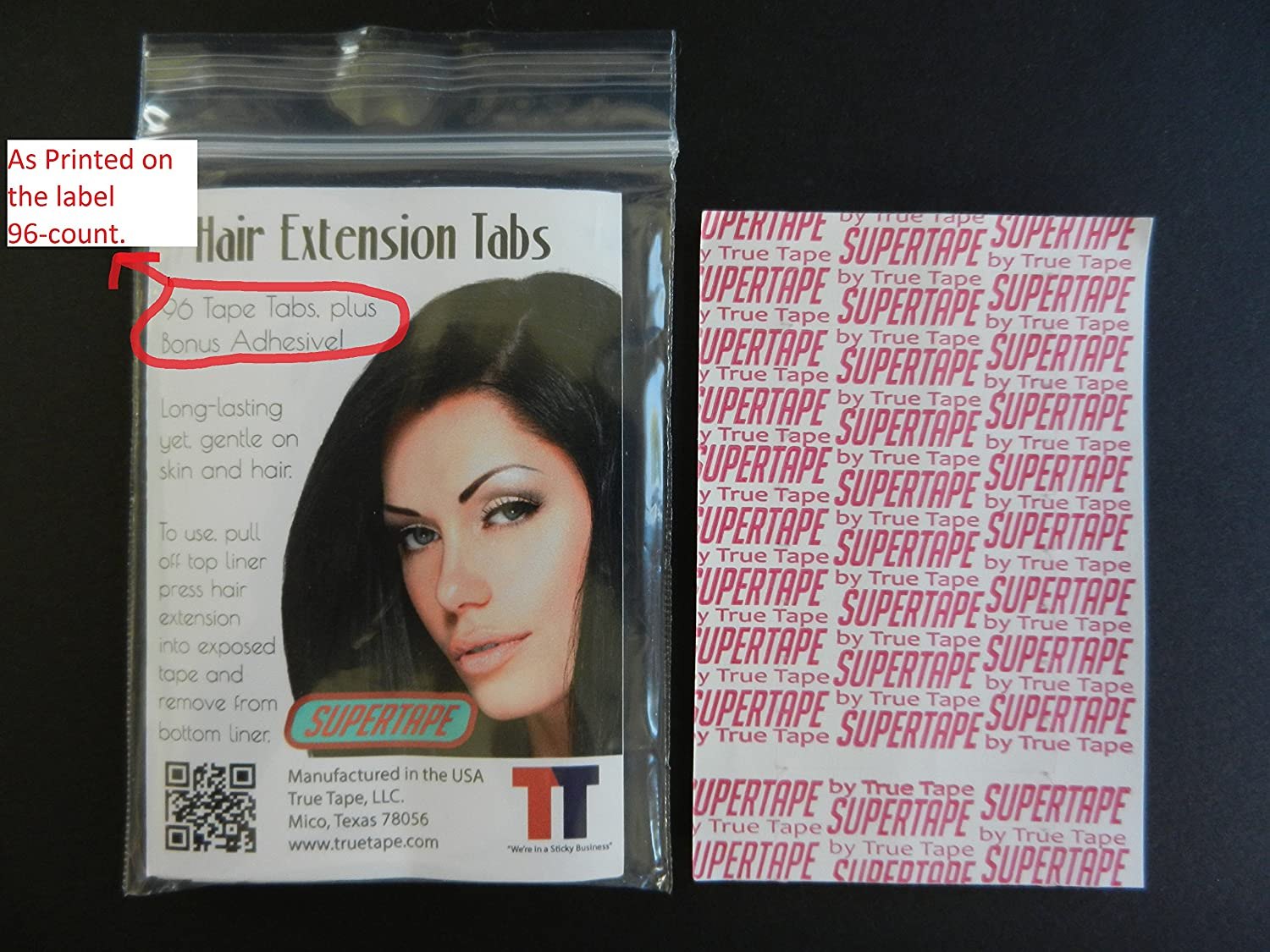 Amazon Super Tape Hair Extension Tabs 60 Count Pack