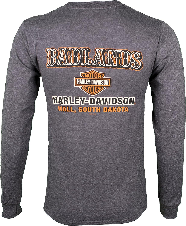 Badlands Harley-Davidson® Men/'s Shield Scene Short Sleeve T-Shirt