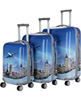 """TERMINAL Luggage 3 PCS Suitcase Set 20''+24""""+28"""" Trolley Bags 