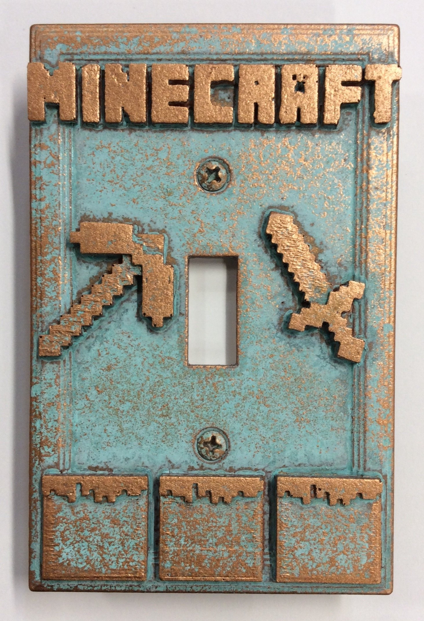 Minecraft - Light Switch Cover (Aged Patina)