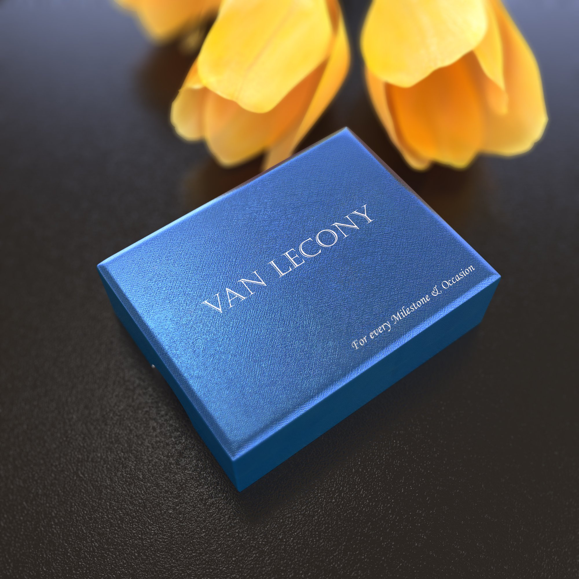 VAN LECONY White Gold and Gold Plated Flower Stud Earrings,Light Peach by VAN LECONY (Image #6)