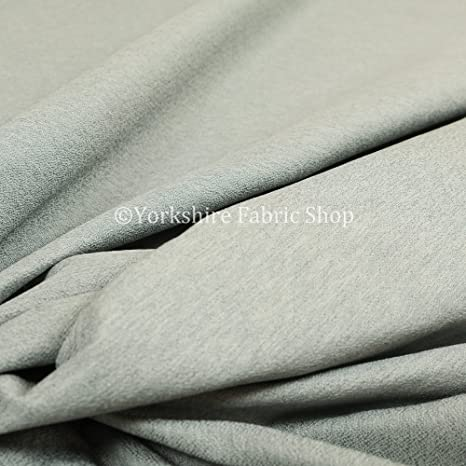 Hard Wearing Quality Plain Soft Chenille Upholstery Curtains Grey Colour Fabric