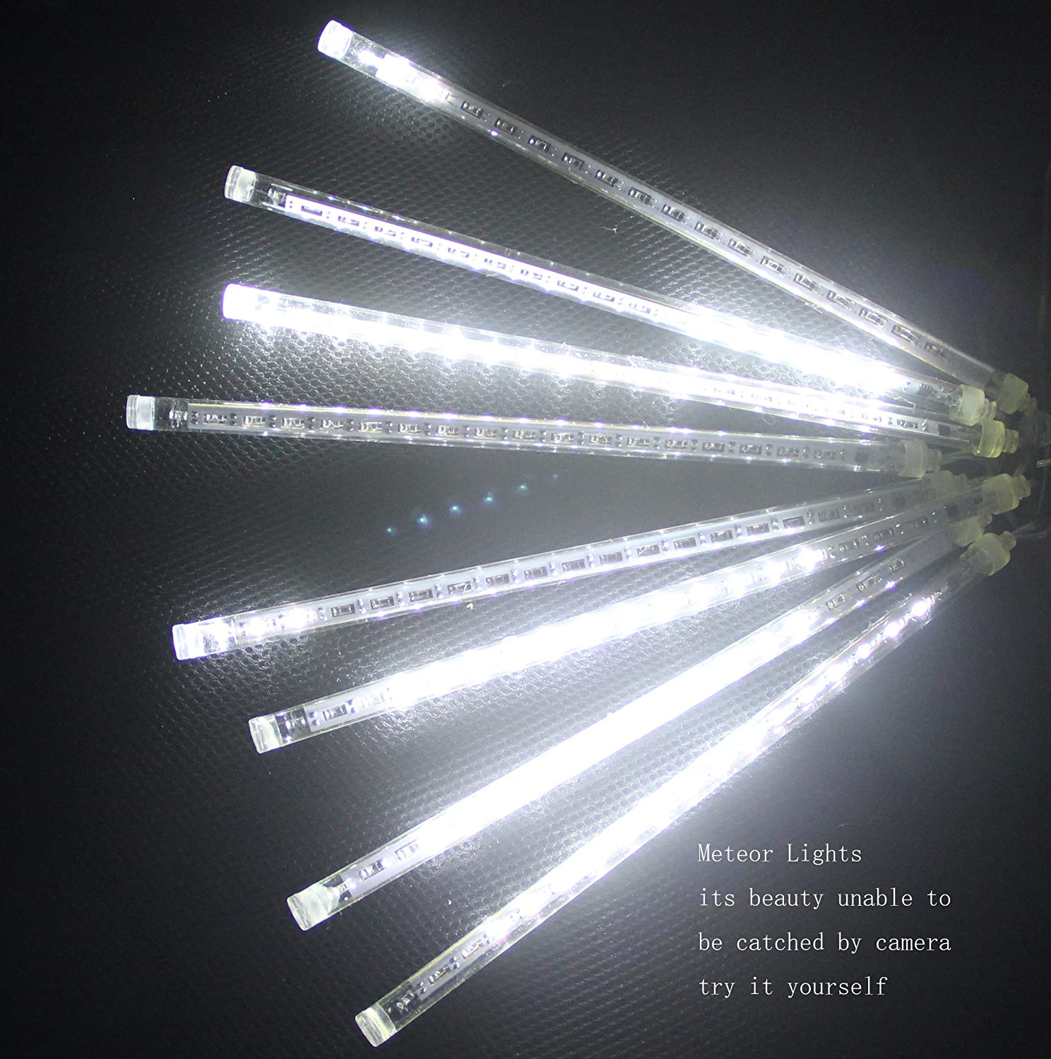 CDL Meteor snow fall Shower rain drop Waterproof Led 30cm/50cm/8tubes white/blue/color Christmas Xmas Lights ideal for indoor outdoor decorations (30cm, blue)