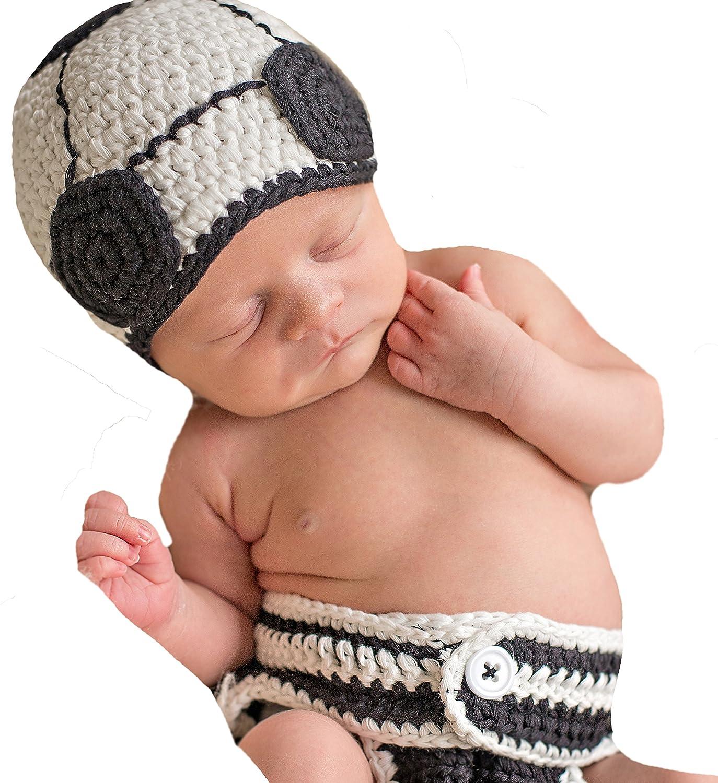 22e5eb6a2e4 Melondipity Newborn Soccer Hat and Diaper Cover Set  Amazon.in  Baby