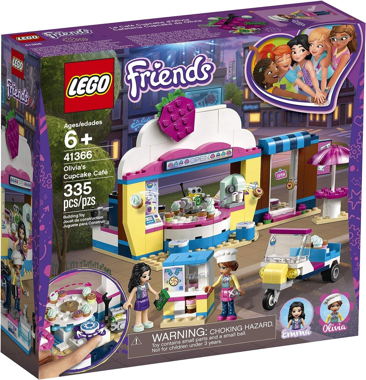 335 Pieces LEGO Friends Olivia/'s Cupcake Caf/é 41366 Building Kit