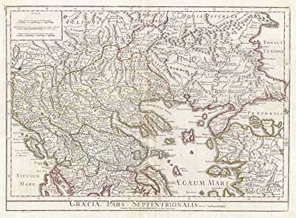 photo regarding Printable Map of Ancient Greece called : Ancient 1794 Delisle Map of Northern Historic